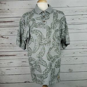 Tommy Bahama Men's Palm Leave Polo Shirt Size XL